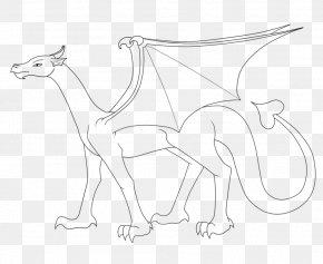 Dragon Line Art - Canidae Line Art Drawing Dog PNG