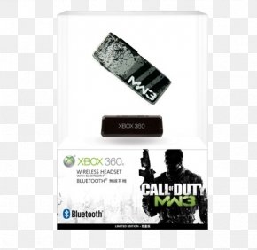 Xbox 360 Wireless Headset - Call Of Duty: Modern Warfare 3 Call Of Duty 4: Modern Warfare Xbox 360 Wireless Headset Headphones PNG