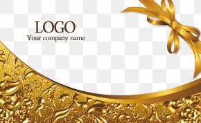 Gold Business Card Template - Web Template Business Card PNG