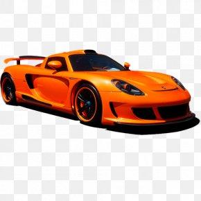 Car - Porsche Carrera GT Performance Car Automotive Design PNG