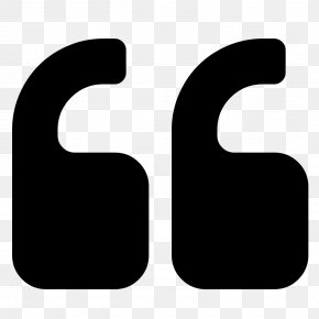 Quotation - Quotation Mark Symbol Font Awesome PNG