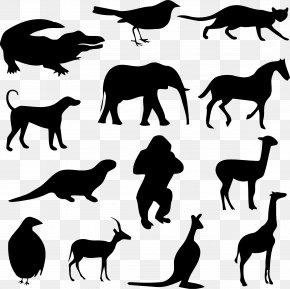 Animal Silhouettes - Giraffe Animal Cat Clip Art PNG