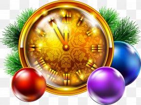 Christmas Clock Cliparts - Santa Claus Christmas Clock New Year Clip Art PNG
