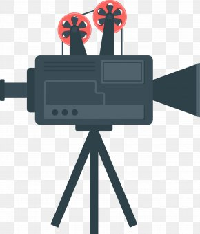 Camera Vector Flat - Photographic Film Cinema PNG