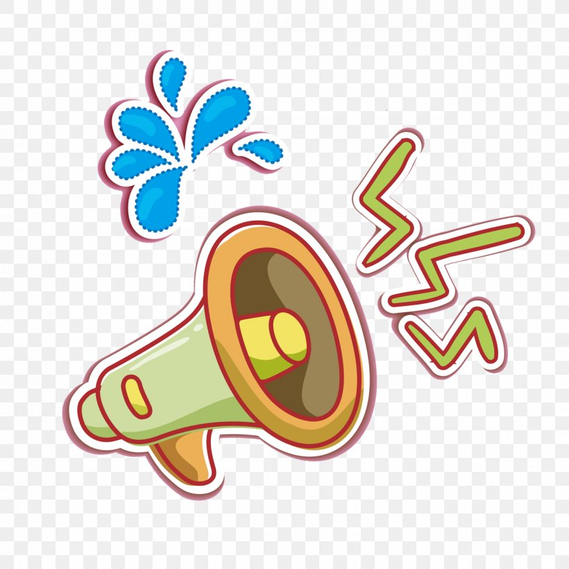 Cartoon Download Icon, PNG, 1276x1276px, Loudspeaker, Area, Button, Cartoon, Clip Art Download Free