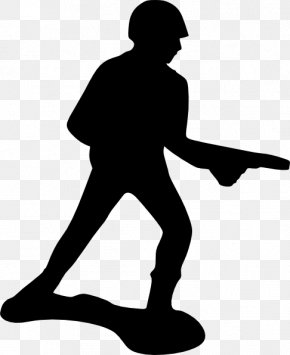 Soldier Silhouette Cliparts - Toy Soldier Army Men Clip Art PNG