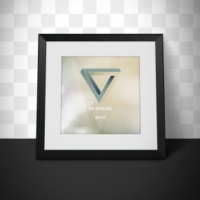 Black Frame - Visual Arts Mockup Picture Frame Graphic Design Photography PNG