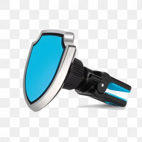 Blue Shield Clip-shaped Mobile Phone Holder - Car Mobile Phone Telephone Google Images PNG