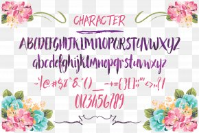 Graphicriver Poster - Floral Design Calligraphy Script Typeface Type Design Font PNG