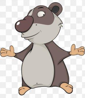 Vector Mischievous Raccoon - Koala Giant Panda Cartoon Humour PNG