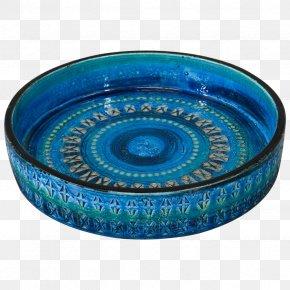 Platter Cobalt Blue Ceramic Turquoise Teal PNG