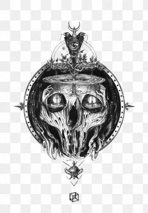Skull - Skull T-shirt Black And White PNG