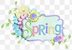 Spring Decor Clipart Picture - Easter Bunny Digital Scrapbooking Clip Art PNG