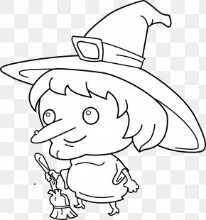 Mother Goose Clipart - Witchcraft Black And White Drawing Clip Art PNG