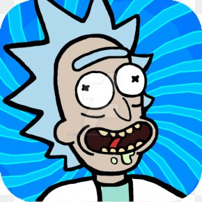 Rick Avatar (Blue Vers ) Icon - Pocket Mortys Rick Sanchez Morty Smith DeviantArt PNG
