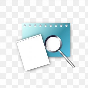 Paper With A Magnifying Glass - Paper Magnifying Glass A4 PNG