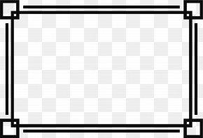 Black Line Border - Picture Frame Clip Art PNG