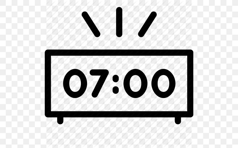 Alarm Clock Icon, PNG, 512x512px, Alarm Clock, Area, Black And White, Brand, Clock Download Free