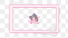 Border Candy - Paper Picture Frames Pink M Character Font PNG