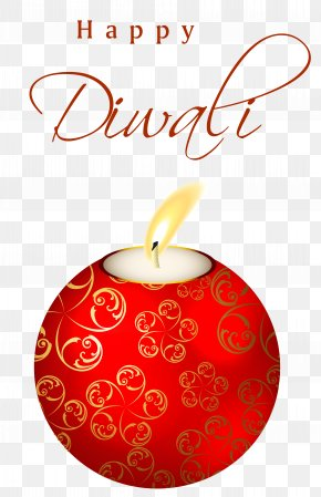 Beautiful Red Happy Diwali Candle Clipart Image - Diwali Clip Art PNG