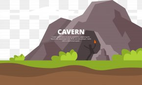 Painted The Cave On The Top Of The Hill - Cave Cartoon PNG
