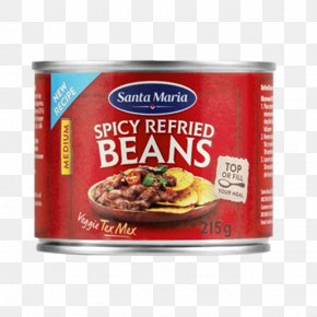 Tex Mex - Refried Beans Taco Tex-Mex Recipe Vegetarian Cuisine PNG