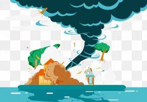 Vector Destructive Tornadoes - Hurricane Harvey Typhoon Natural Disaster PNG