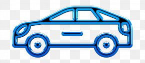 Electric Blue Car - Car Icon Miscellaneous Elements Icon PNG
