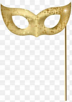 Gold Carnival Mask Clip Art Image - Mask Gold PNG