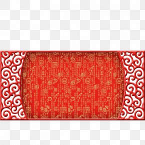 China Wind Festive Red Background - Red Festival Download Poster Computer File PNG
