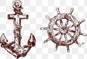 Anchors Rudder - Tattoo Anchor Flash Piracy Body Art PNG
