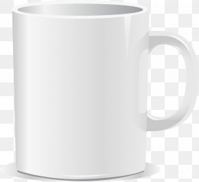 Vector White Mug - Coffee Cup Mug Euclidean Vector Icon PNG