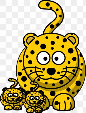 Cheetah - Baby Jungle Animals Clouded Leopard Clip Art PNG
