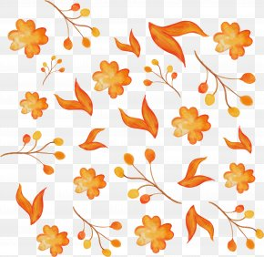Watercolor Hand Painted Flowers Pattern - Watercolor Painting Illustration PNG