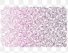 Heart-shaped Purple Line Shading Pattern - Visual Arts Purple Pattern PNG