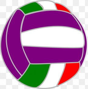 Volleyball - Beach Volleyball Color Clip Art PNG