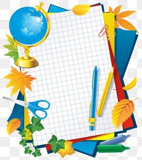 School Decors Picture - Paper School Picture Frame Clip Art PNG