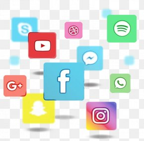 Text Media Consultant - Social Media Icons Background PNG