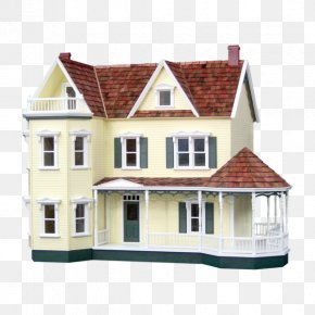 Victorian Cottage Dollhouse - Dollhouse Miniatures Window Toy PNG