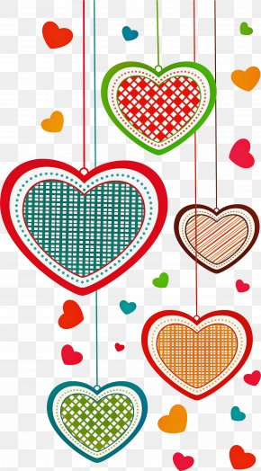 Love Heart - Heart Pattern Line Love PNG