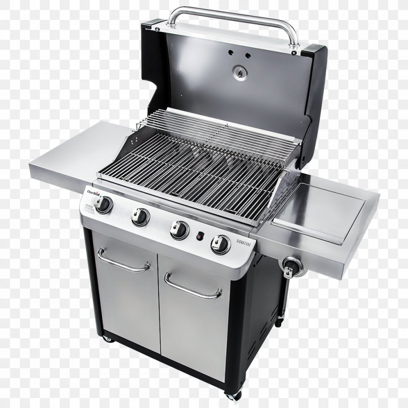 Barbecue Char-Broil Signature 4 Burner Gas Grill Grilling Gasgrill, PNG, 1000x1000px, Barbecue, Brenner, Charbroil, Charbroil Truinfrared 463633316, Charcoal Download Free