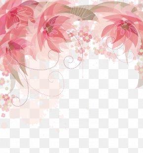 Pink Flowers Border - Flower Clip Art PNG