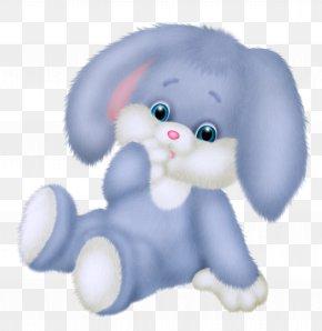 Cute Blue Bunny Clipart Picture - Rabbit Blue Bunny Clip Art PNG