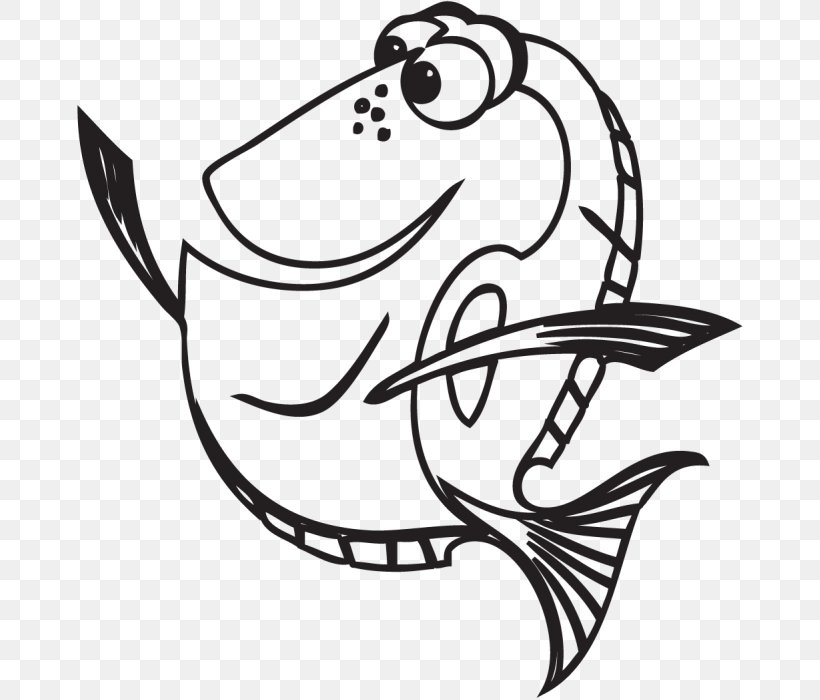 Coloring Book Finding Nemo Drawing Line Art, PNG, 667x700px ...