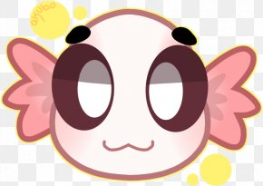 Smile Cheek - Cartoon Pink Head Nose Snout PNG