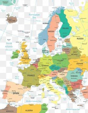 Corner Of The World Map - Europe World Map Mapa Polityczna Geography PNG