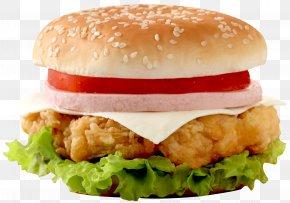 Burger - Hamburger Chicken Sandwich Cheeseburger Fast Food Junk Food PNG
