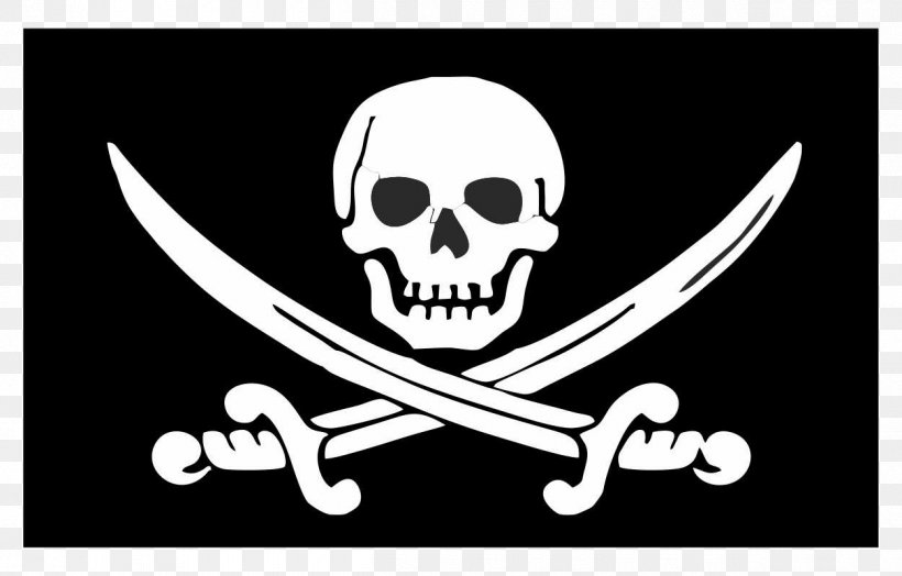 Jolly Roger Piracy Flag T-shirt Skull And Crossbones, PNG, 1250x800px, Jolly Roger, Black And White, Bone, Brand, Emblem Download Free