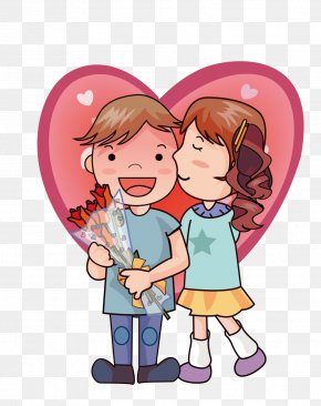 Cartoon Bride And Groom - Online Dating Service Intimate Relationship Interpersonal Relationship Love PNG