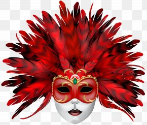Carnival Mask Red Clip Art - Mask Clip Art PNG